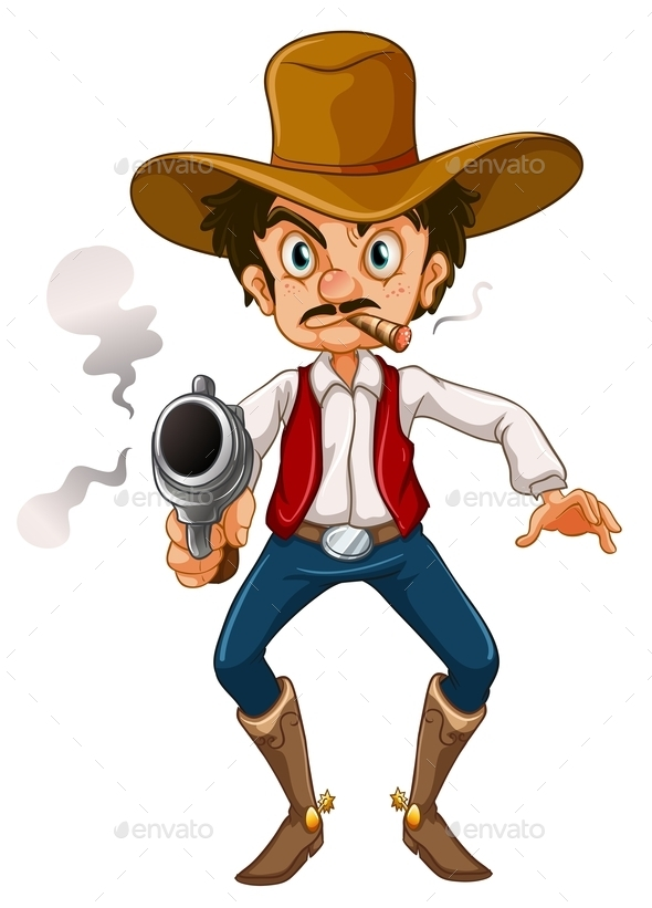 Man with a Cigar and a Gun  - People Characters