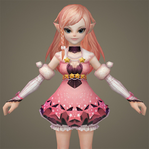 Toon character Kaitki - 3DOcean Item for Sale