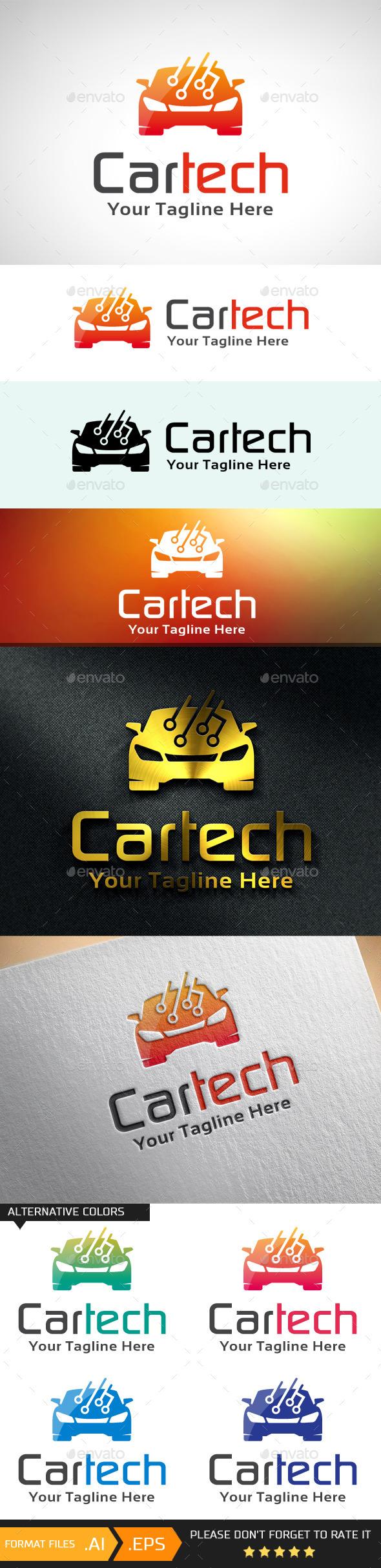 Car Technology Logo Template - Objects Logo Templates
