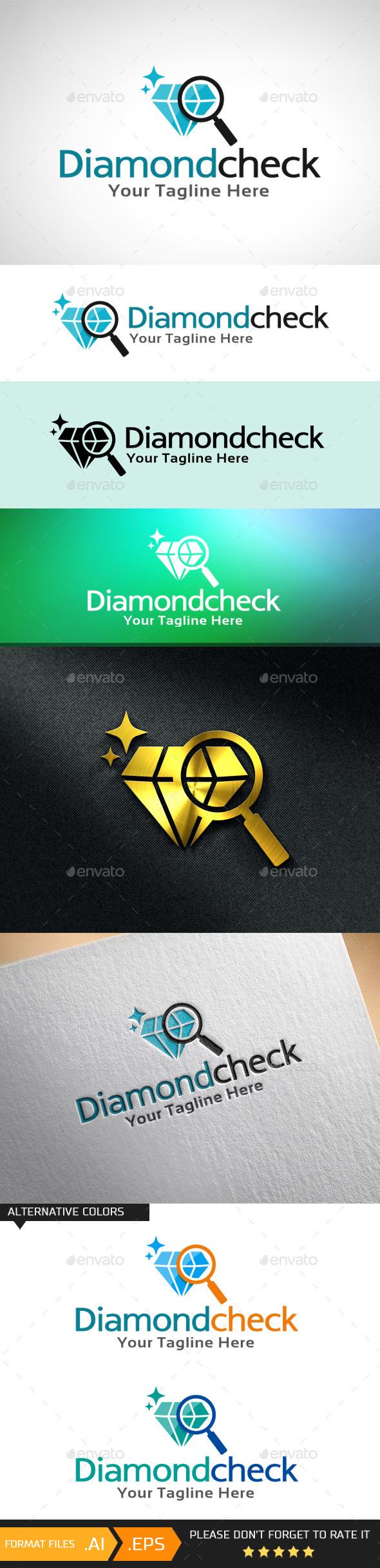 Diamond Check Logo Template - Objects Logo Templates