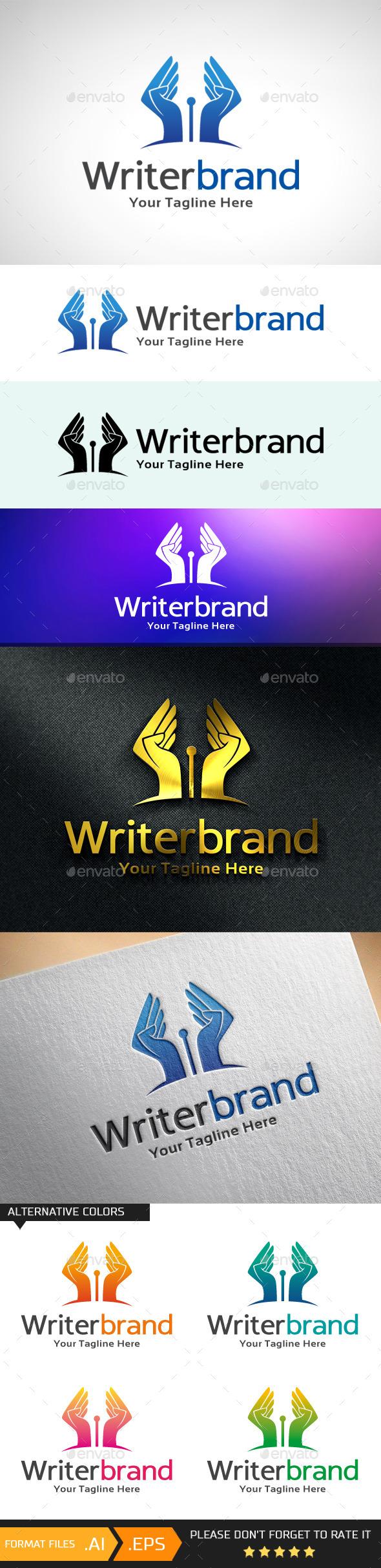 Writer Brand Logo Template - Objects Logo Templates