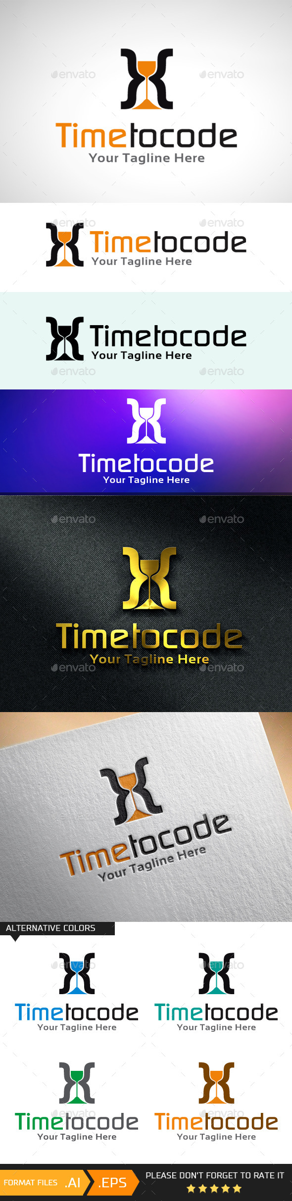 Time to Code Logo Template - Objects Logo Templates