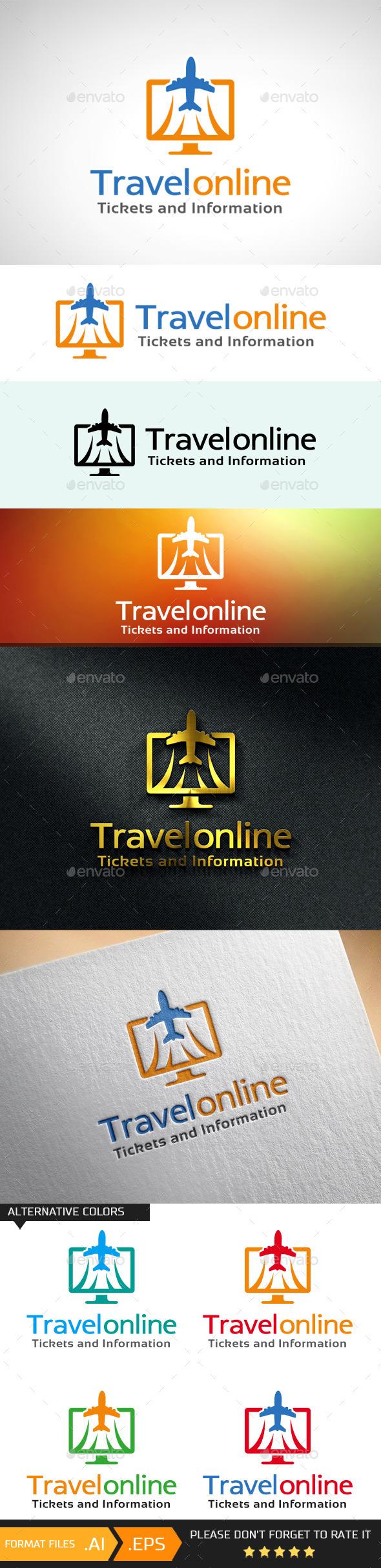 Travel Online Ticket & Info Logo Template - Objects Logo Templates