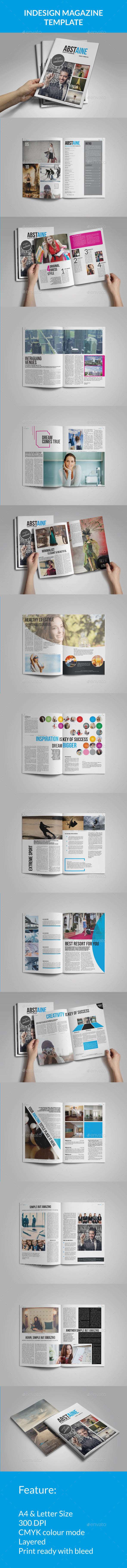 Absolute Stylish Magazine Template - Magazines Print Templates