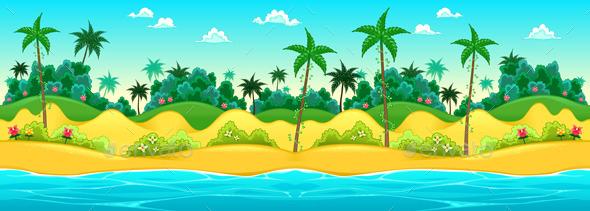 Landscape on the Seashore - Landscapes Nature