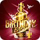 Gold Birthday Bash   Psd Flyer Template - GraphicRiver Item for Sale