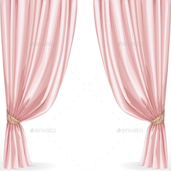 Pink Curtain - Backgrounds Decorative