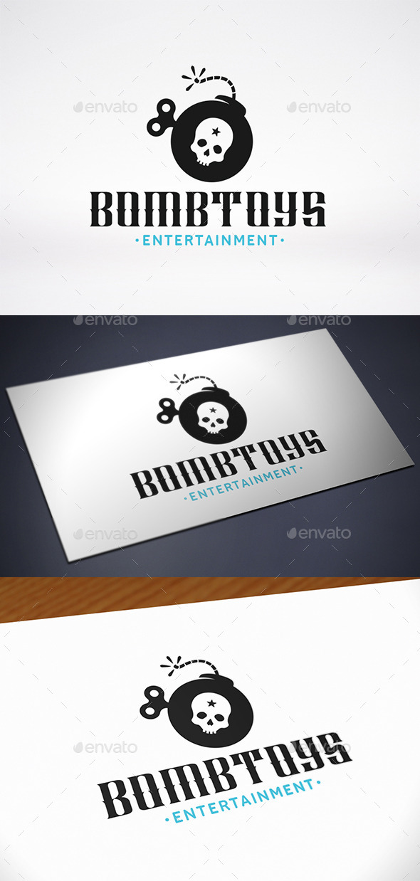 Bomb Toy Logo Template - Objects Logo Templates