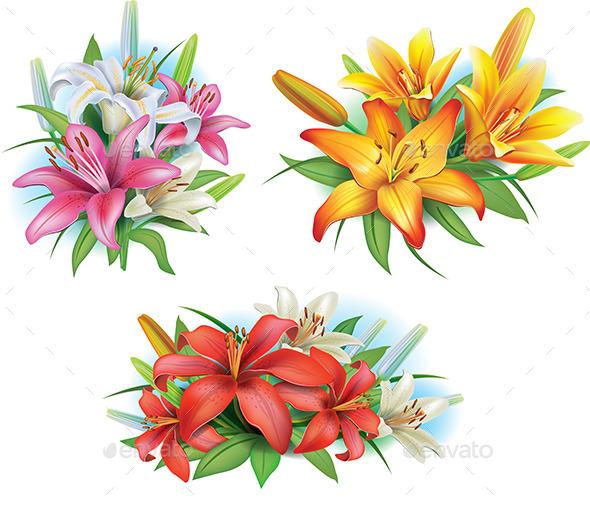 Arrangement from Lilies - Flowers & Plants Nature