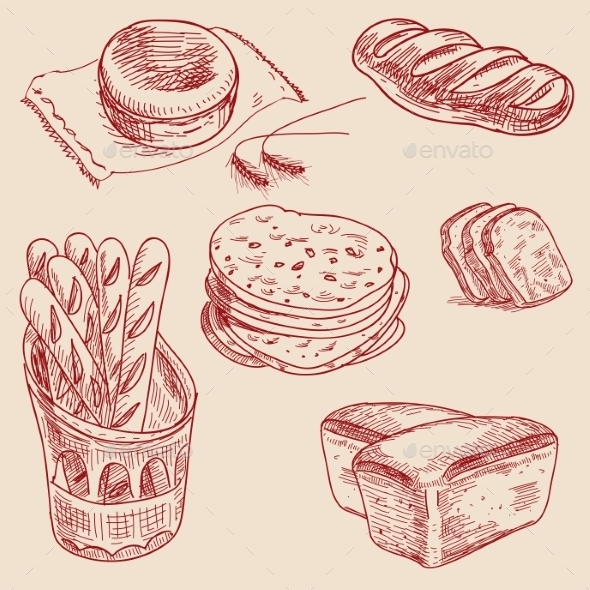 Bakery Products - Food Objects