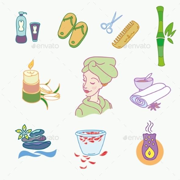 Spa Doodles  - Flowers & Plants Nature