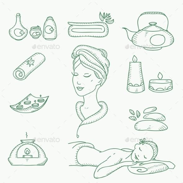 Spa Doodle  - Health/Medicine Conceptual