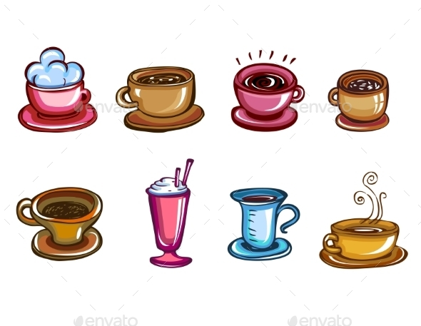 Types of Coffee - Food Objects