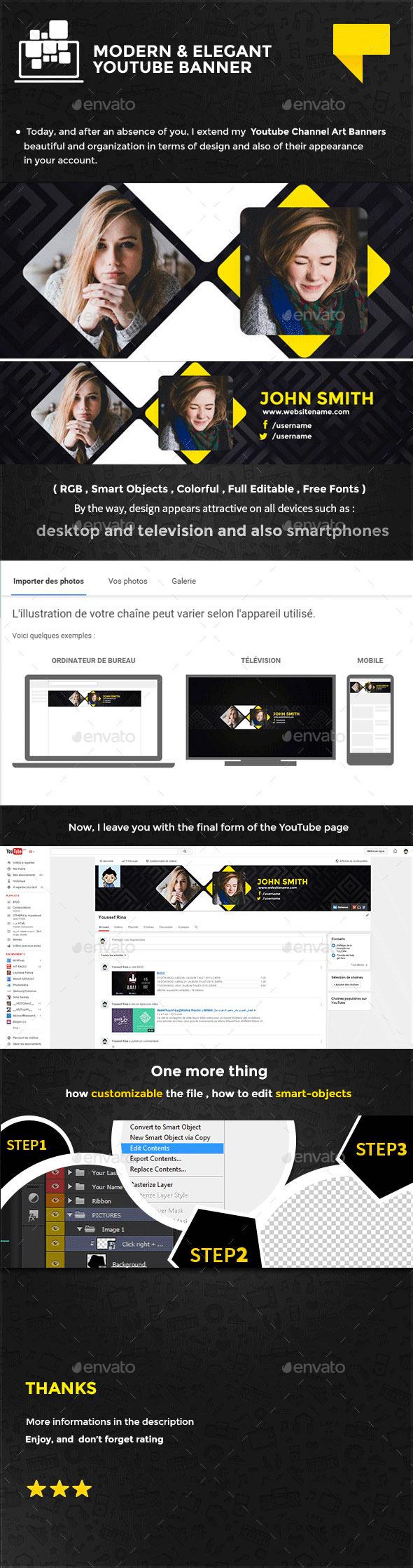 Clean Elegant Youtube Banner - YouTube Social Media