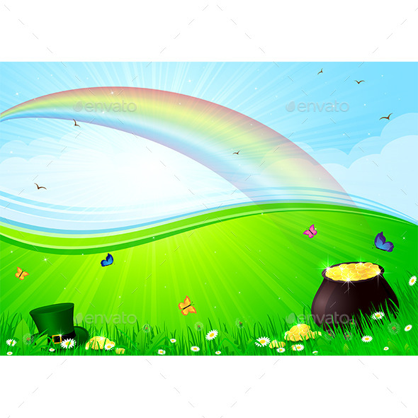 Rainbow and Pot with Gold - Miscellaneous Seasons/Holidays