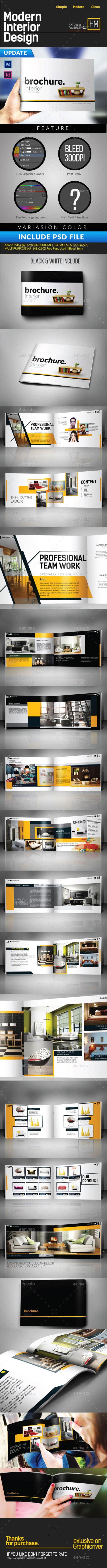 Modern Interior Catalog or Portfolio Design - Catalogs Brochures