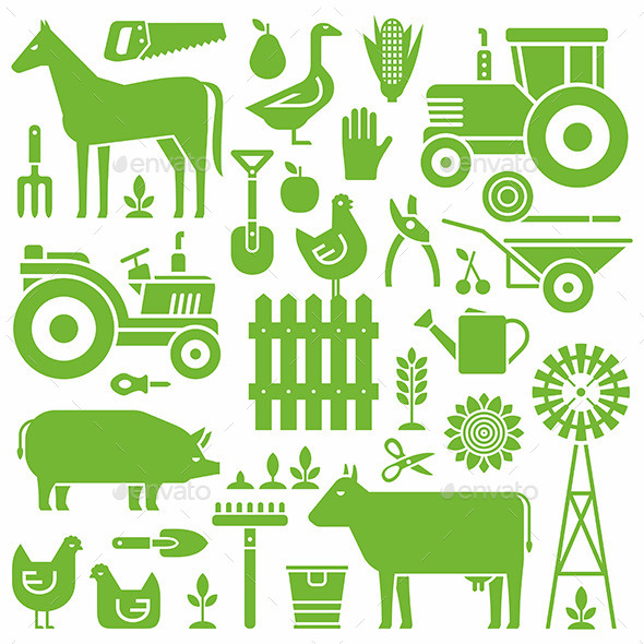 Farm Pattern - Miscellaneous Vectors