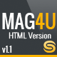 Mag4u - Responsive Retina HTML News, Magazine, Blog - ThemeForest Item for Sale