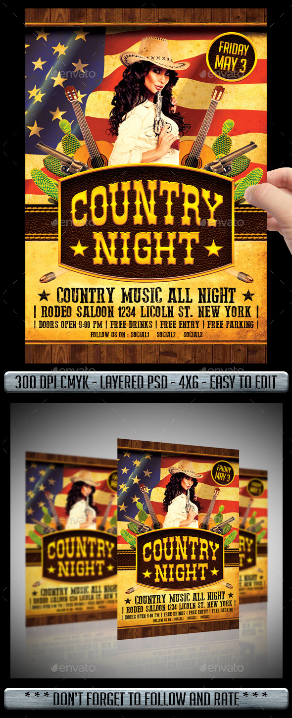 Country Flyer - Events Flyers