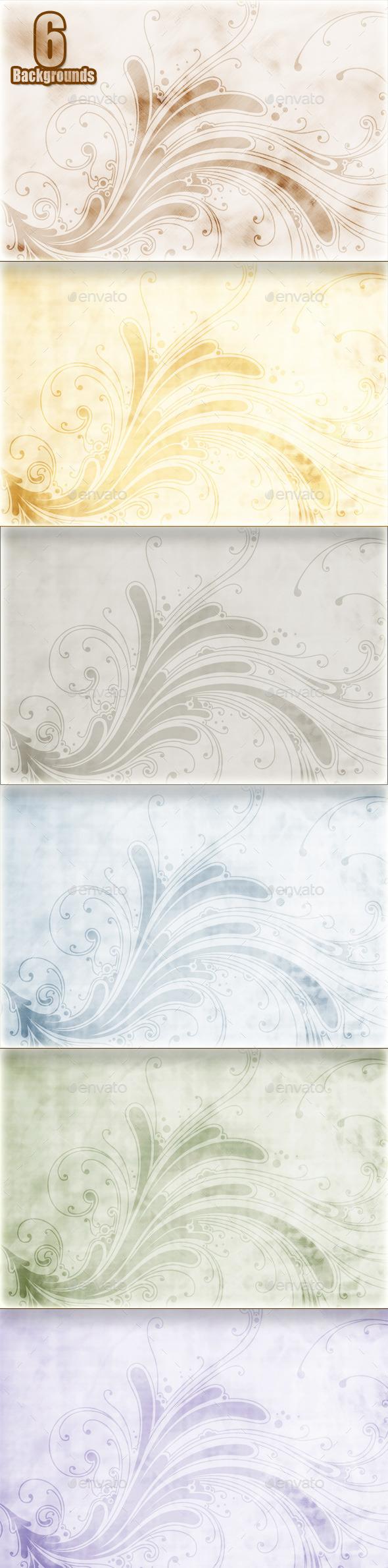 Vintage Flowers Backgrounds - Backgrounds Graphics