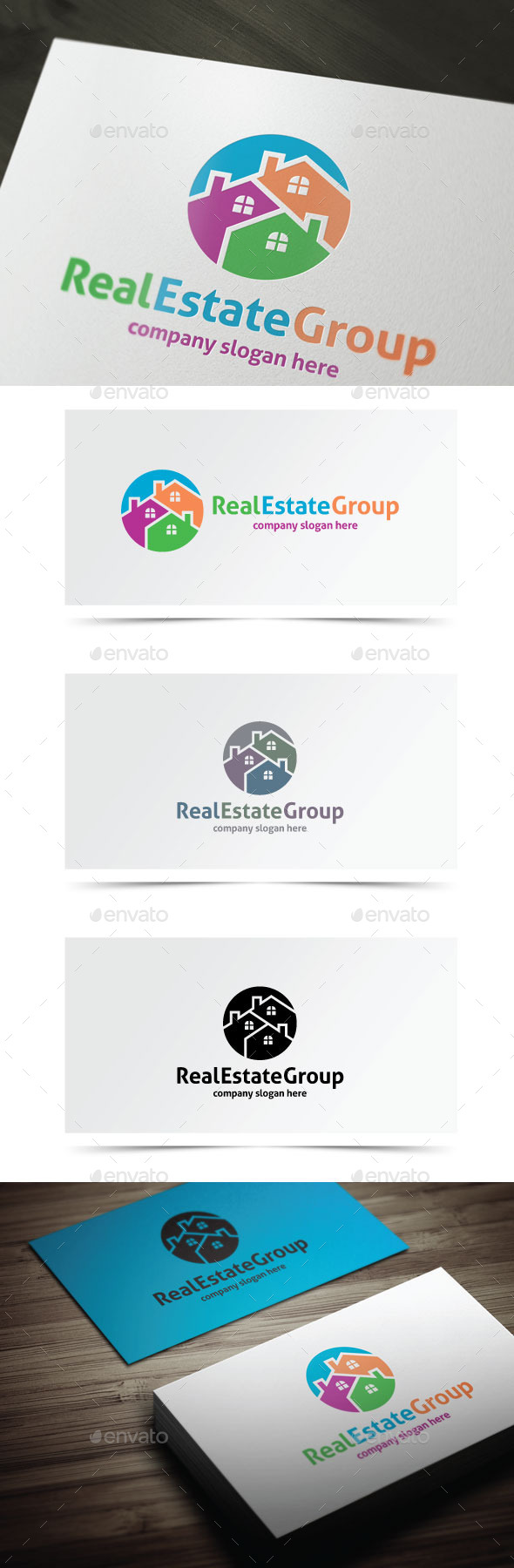 Real Estate Group - Buildings Logo Templates