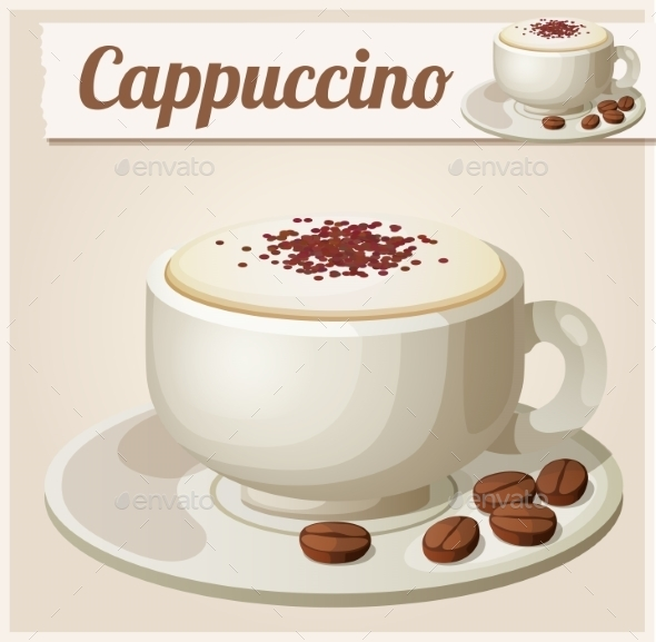 Cup of Cappuccino - Food Objects