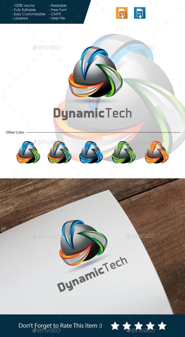 Dynamic Tech - 3D Logo - 3d Abstract