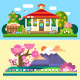 Flat Spring and Summer Landscapes - GraphicRiver Item for Sale