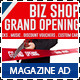 Agency & Shop Grand Opening Magazine Ad - GraphicRiver Item for Sale
