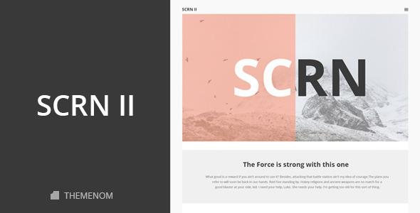 SCRN II – Creative PSD Template