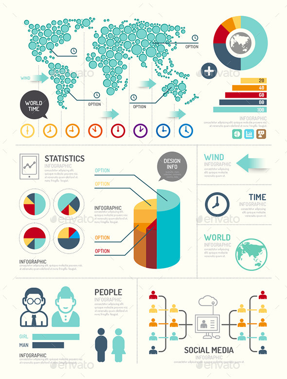 Modern Design Elements Infographic Template - Infographics
