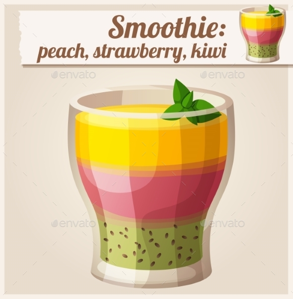 Smoothie in Glass - Food Objects