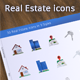 30 Real Estate Icons in 3 Styles - GraphicRiver Item for Sale