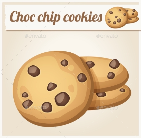 Chocolate Chip Cookies - Food Objects