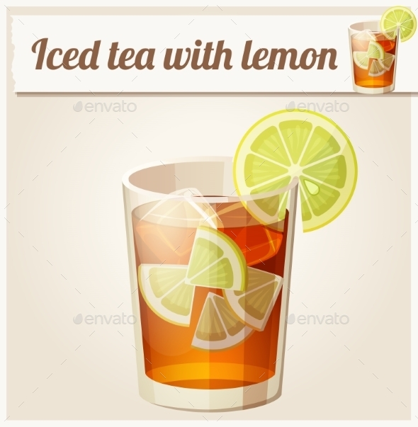 Glass of Iced Tea - Food Objects