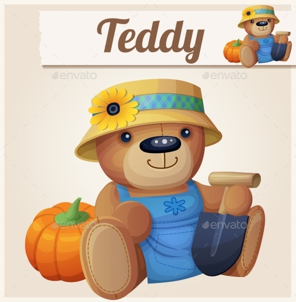 Teddy Bear the Gardener - Miscellaneous Vectors