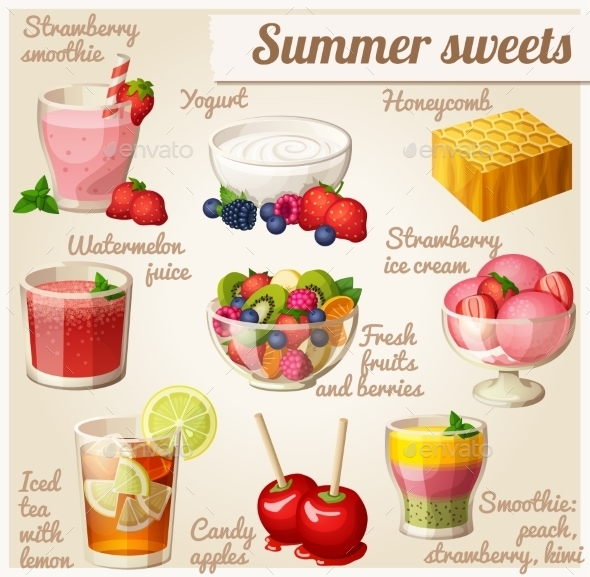 Summer Sweets.  - Food Objects