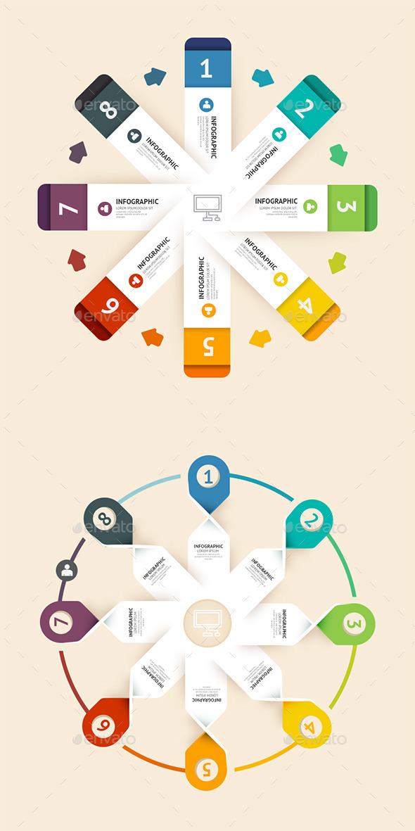 Number Banners Modern Design Template - Infographics