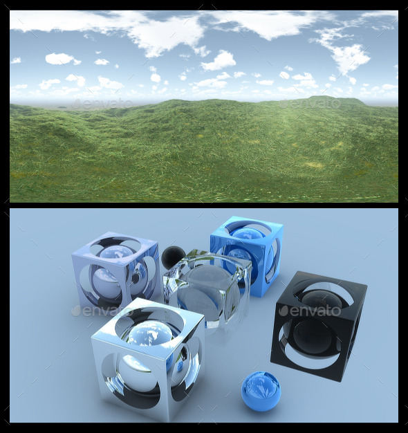 Open Grass Field - HDRI - 3DOcean Item for Sale