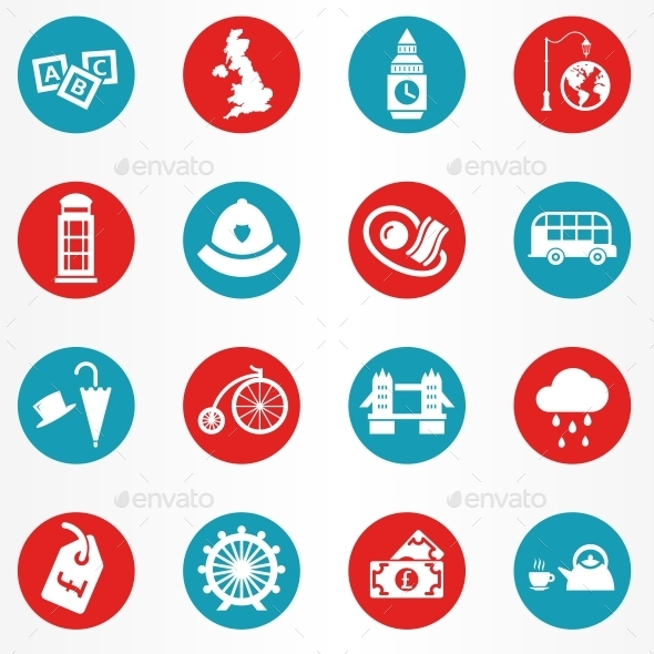 London Icons Circle - Objects Icons