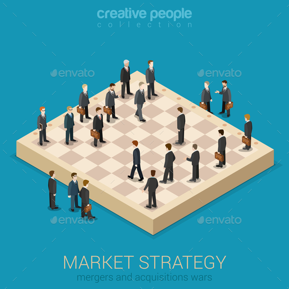 Corporate Business Market Strategy - People Characters