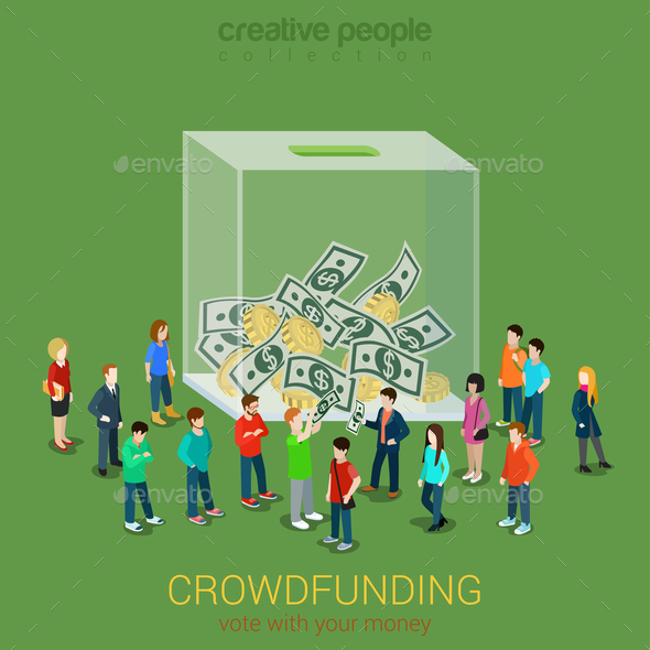 Business Idea Crowdfunding Volunteer Concept - Concepts Business