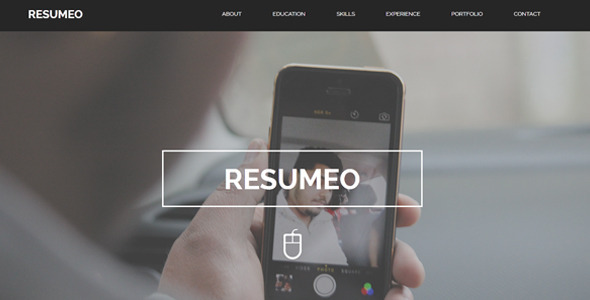 Resumeo – One Page Resume Template