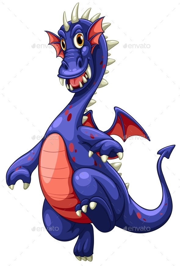 Blue Dragon - Illustration - Animals Characters