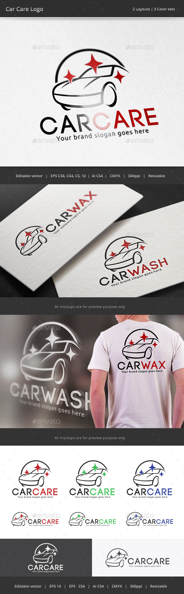 Car Care Logo - Objects Logo Templates