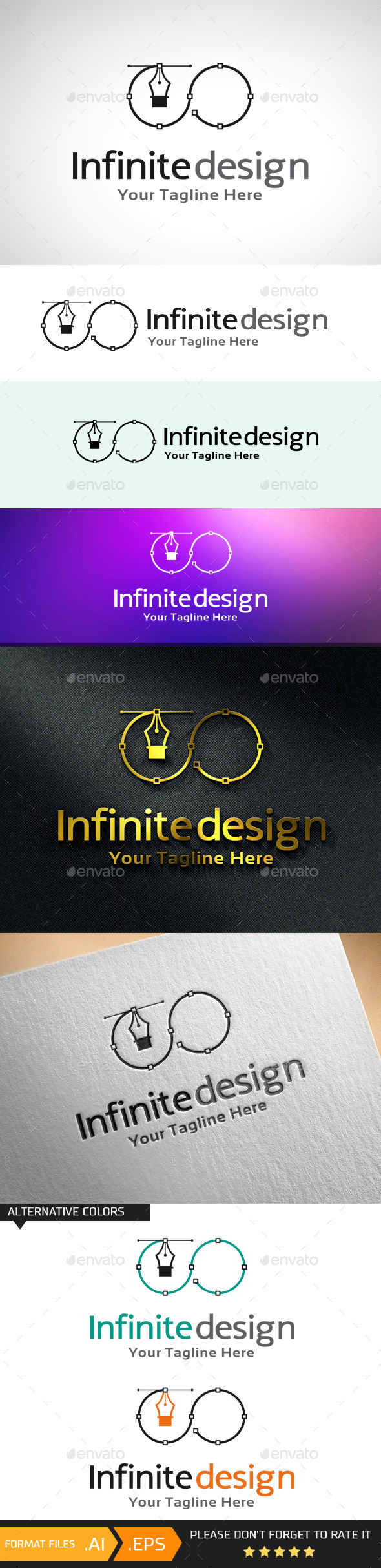 Infinite Design Logo Template - Objects Logo Templates