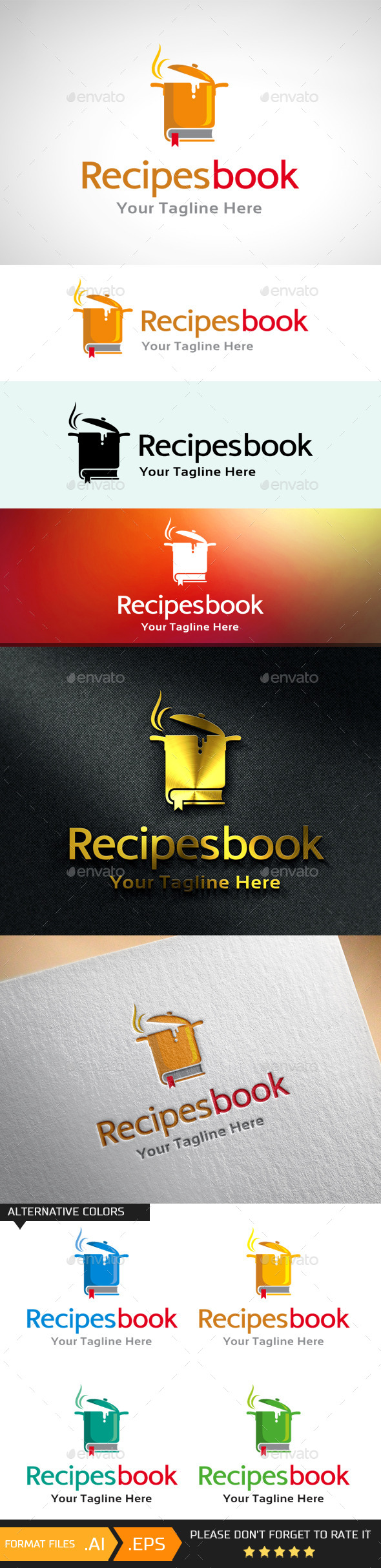Recipes Book_Cook Logo - Objects Logo Templates
