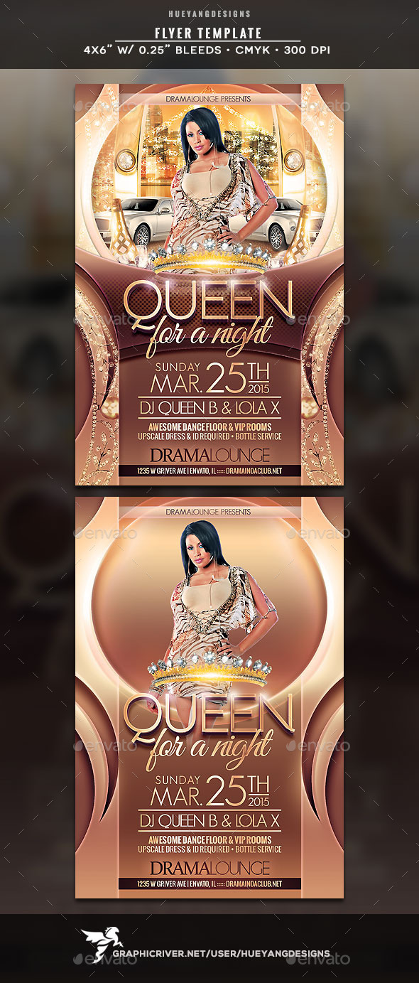 Queen Flyer - Clubs & Parties Events