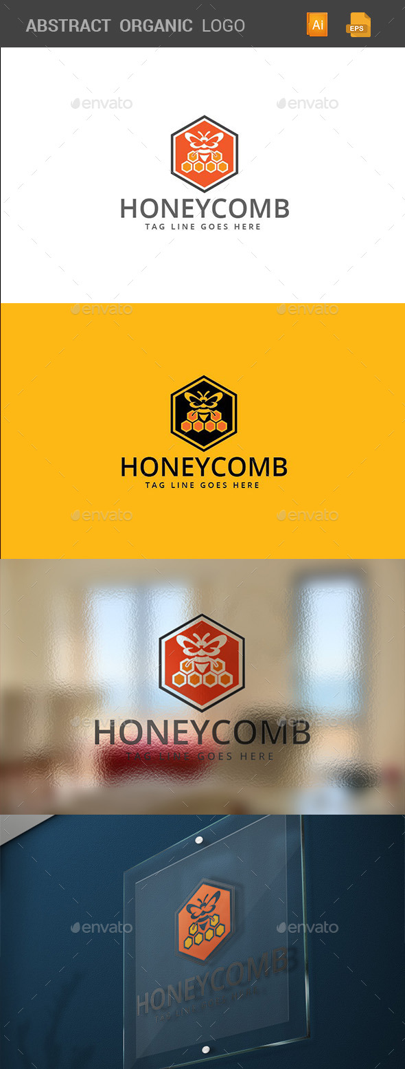 Honey Comb Logo Template - Logo Templates