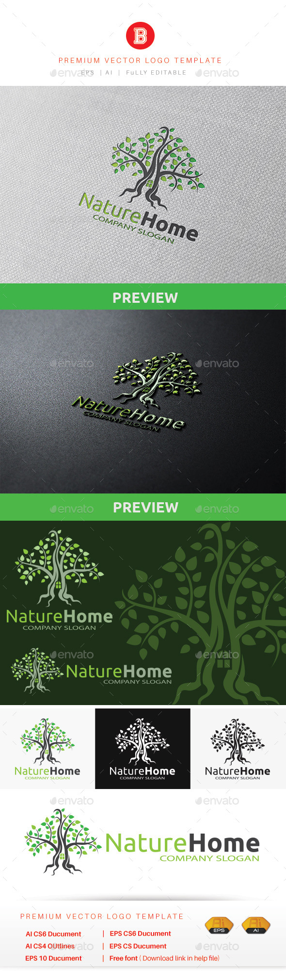 Nature Home - Nature Logo Templates